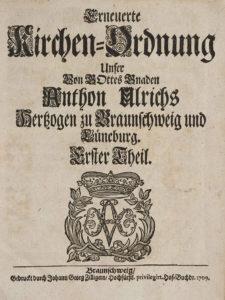 Titelblatt Kirchenordnung
