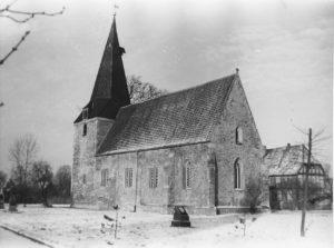 Kirche, Ansicht von Südosten, etwa 1961