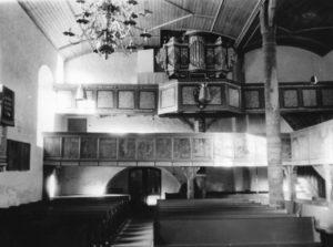 Kirche, Blick zur Orgel, etwa 1961