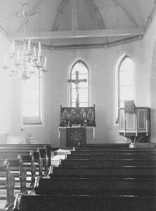 Kirche, Blick zum Altar, Foto: Ernst Witt, Hannover, Juli 1957
