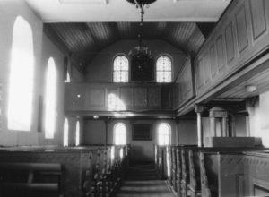 Kirche, Blick zur Orgel, vor 1960 (?)