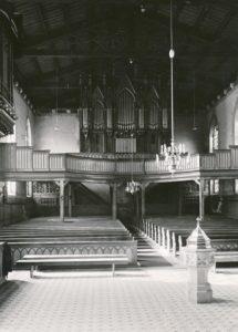 Kirche, Blick zur Orgel, vor 22.03.1943, Urheberrecht: Bildarchiv: Niedersächsisches Landesverwaltungsamt Hannover, Landeskonservator
