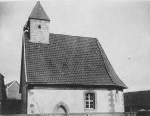 Kapelle, Ansicht von Südwesten, 1896