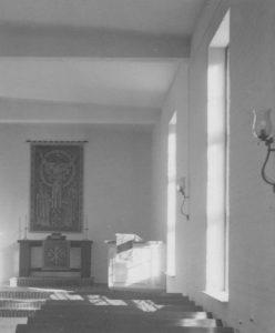 Kirche, Blick zum Altar, Foto: Ernst Witt, Hannover, September 1950