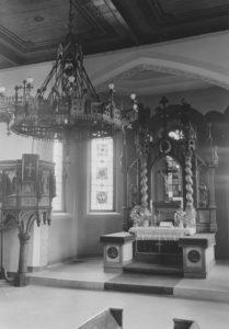 Kirche, Blick zum Altar, vor 1958 (1958 Neugestaltung des Innenraumes)