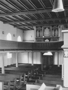 Kirche, Blick zur Orgel, Foto: Ernst Witt, Hannover, Juli 1961