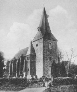 Kirche, Ansicht von Nordwesten, Postkarte, Ausschnitt, 1939