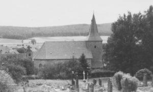 Kirche, Ansicht von Norden, 1958