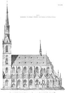 Kirche, Aufriss, Südseite, 1911