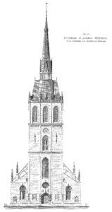 Kirche, Aufriss, Westseite, 1911
