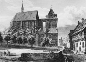 Kirche, Ansicht von Norden, vor 1883, nach Lange