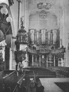 Kirche, Blick zur Orgel, 1911