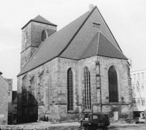 Kirche, Ansicht von Südosten, nach 1945