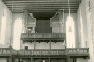 Kirche, Blick zur Orgel, nach 1954 (1954-1960 Orgelneubau in drei Bauabschnitten)