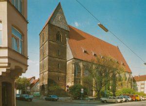 Kirche, Ansicht von Südwesten, um 1980, Postkarte, Bildrechte: Kunstverlag K. Bernhard, Hannover