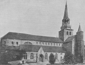 Kirche, Ansicht von Südwesten, vor 1907 (1907-10 Rekonstruktion des südwestlichen Querhausarms)