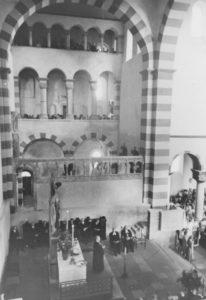 Einweihung des Langhauses und des westlichen Querhauses, 20. August 1950