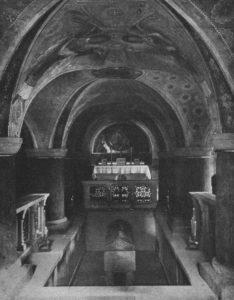 Krypta, Blick nach Osten, 1911