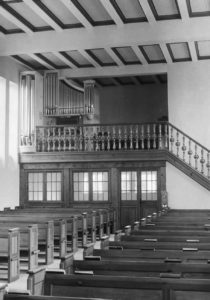 Kirche, Blick zur Orgel, nach 1957 (1957 Orgelneubau)