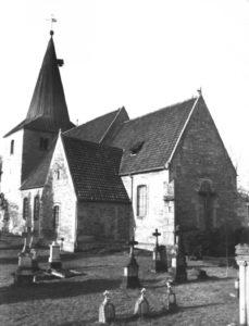 Kirche, Ansicht von Südosten, vor 1957