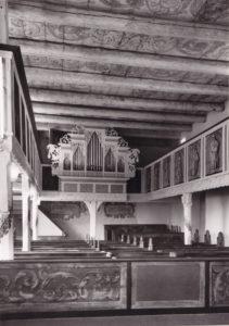 Kirche, Blick zur Orgel, Foto: Ernst Witt, Hannover, 1954