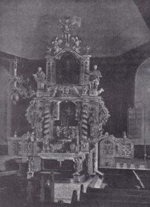 Kirche, Blick zum Altar, vor 1902