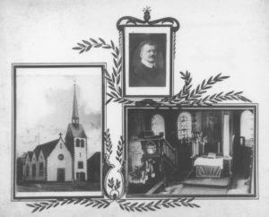 Kirche, Ansicht von Nordwesten, Blick zum Altar, P. Rudolf Armin Ludwig Guden (amt. 1901-10)