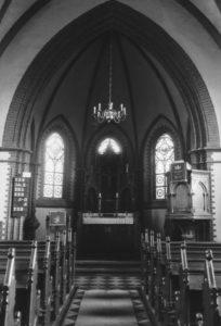 Kirche, Blick zum Altar, vor 1957