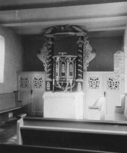 Kirche, Blick zum Altar, Foto: Ernst Witt, Hannover, Juni 1955