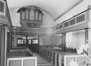 Kirche, Blick zur Orgel, Foto: Ernst Witt, Hannover, Mai 1950