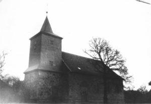 Kirche, Ansicht von Südwesten, vor 1957