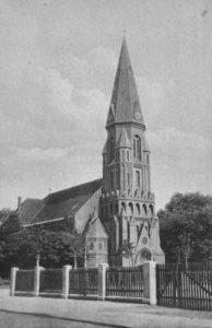 Matthäuskirche, Ansicht von Nordwesten, um 1950