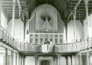 Matthäuskirche, Blick zur Orgel, nach 1974, vor 1980