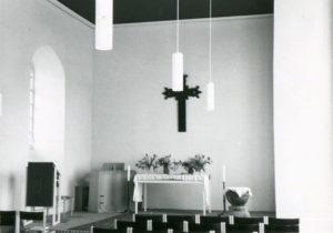 Nikolauskirche (alte Kirche), Blick zum Orgel, nach 1975 (Orgel: Zustand 1975)
