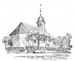 Kapelle, Ansicht von Nordosten, 1910, Zeichnung