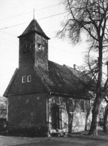 Kapelle, Ansicht von Südwesten, vor 1957