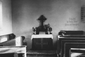 Kapelle, Blick zum Altar, vor 1957