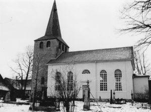 Kirche, Ansicht von Süden, vermutlich 1957 (?)