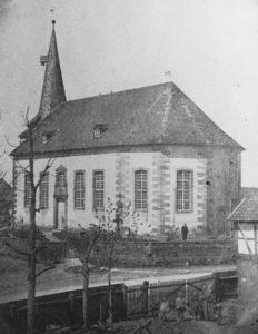 Kirche, Ansicht von Südosten, vor 1881