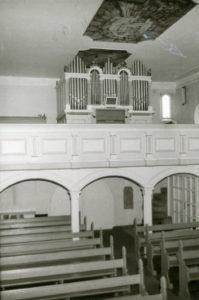 Kirche, Blick zur Orgel, vermutlich 1976