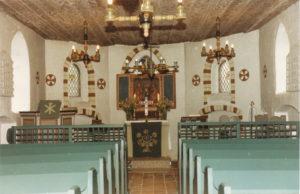 Kapelle, Blick zum Altar, Foto: P. Greve, Jöllenbeck (?), um 1988