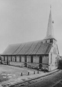 alte Kirche, 1895 abgerissen, Ansicht von Nordwesten, Foto: Fritz Helbsing, Peine, 1895
