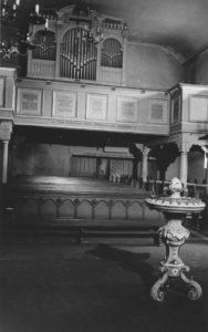 Kirche, Blick zur Orgel, um 1960