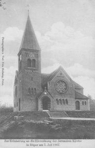 neue Kirche, Ansicht von Südwesten, Foto: Fritz Helbsing, Peine, um 1907