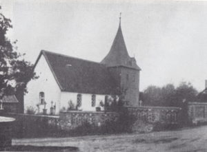 alte Kirche, 1907 abgebrochen, Ansicht von Nordosten