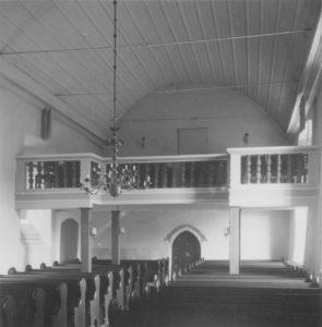 Kirche, Blick zur Westempore, Foto: Ernst Witt, Hannover, April 1956