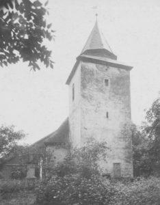Kirche, Ansicht von Westen, um 1948