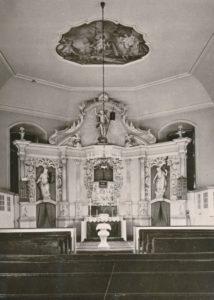 Kirche, Blick zum Altar, vor 1972/72