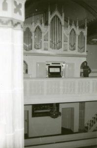 Kirche, Blick zur Orgel, 1977