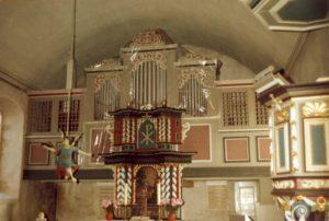 Kirche, Blick zum Altar, vermutlich 1978